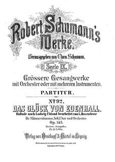 Das Glück von Edenhall, Op.143: Vollpartitur by Robert Schumann