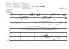 Trois Chansons for Flute quartet, harp and soprano, MVWV 577: Trois Chansons for Flute quartet, harp and soprano by Maurice Verheul