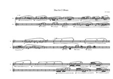 Duo for 2 Oboes, MVWV 814: Duo for 2 Oboes by Maurice Verheul