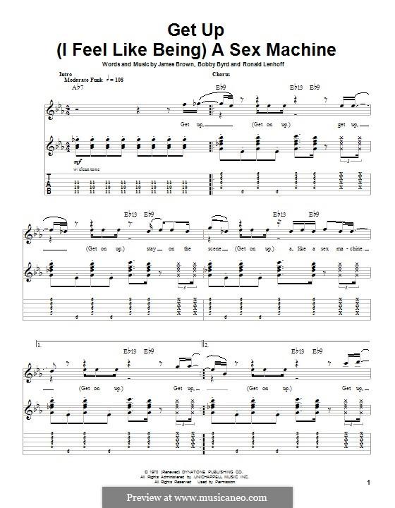 Get Up (I Feel Like Being) A Sex Machine: Für Gitarre mit Tab by Bobby Byrd, James Brown, Ronald Lenhoff