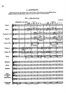 Der vierjährige Posten, D.190: Nr.1 Introduktion by Franz Schubert