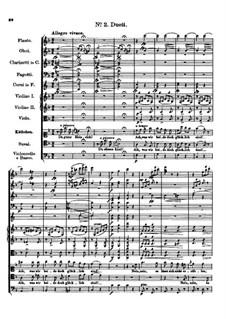Der vierjährige Posten, D.190: Nr.2 Duett by Franz Schubert