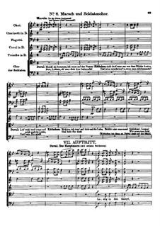 Der vierjährige Posten, D.190: Nr.6 Marsch und Soldatenchor by Franz Schubert