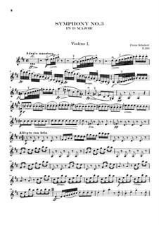 Sinfonie Nr.3 in D-Dur, D.200: Violinstimme I by Franz Schubert