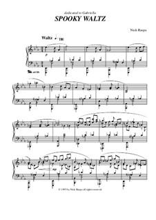 Drei Tänze für Halloween: No.1 Spooky Waltz, for piano by Nick Raspa