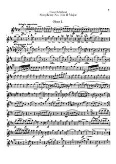 Sinfonie Nr.3 in D-Dur, D.200: Oboenstimmen by Franz Schubert