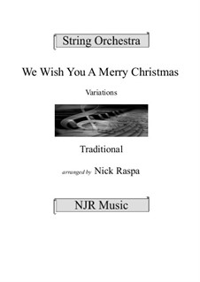 We Wish You a Merry Christmas: Für Streichorchester by folklore