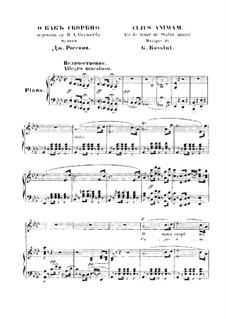 Stabat Mater: Nr.2 Cujus animam, für Stimme und Klavier by Gioacchino Rossini