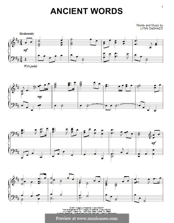 Ancient Words: Für Klavier by Lynn DeShazo