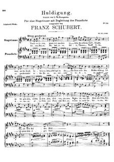 Huldigung, D.240: E-Dur by Franz Schubert