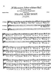 Willkommen, lieber schöner Mai, D.244: Zweite Fassung by Franz Schubert