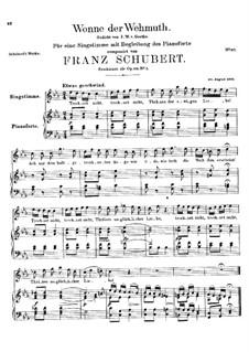 Wonne der Wehmut, D.260 Op.115 No.2: C-moll by Franz Schubert