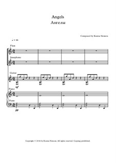 Angels: For flute, saxophone, guitar and piano by Ksenia Nemera