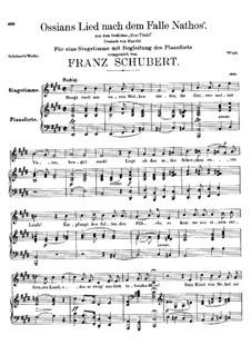 Ossians Lied nach dem Falle Nathos', D.278: E-Dur by Franz Schubert