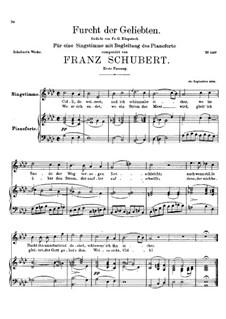 Furcht der Geliebten, D.285: Erste Fassung by Franz Schubert