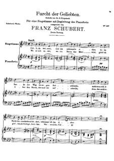 Furcht der Geliebten, D.285: Zweite Fassung by Franz Schubert