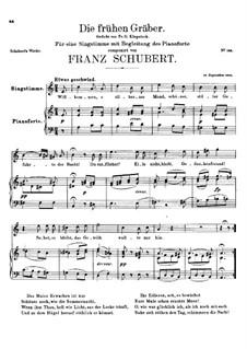 Die frühen Gräber, D.290: A-moll by Franz Schubert