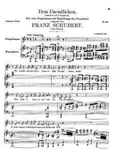 Dem Unendlichen, D.291: Erste Fassung by Franz Schubert