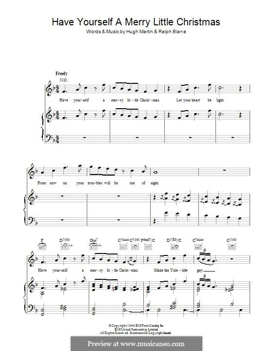 Have Yourself a Merry Little Christmas: Für Stimme und Klavier (oder Gitarre) by Hugh Martin, Ralph Blane
