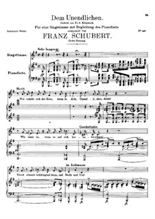 Dem Unendlichen, D.291: Dritte Fassung by Franz Schubert