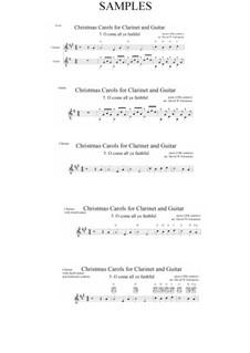 Herbei o ihr Gläubigen: Für Klarinette und Gitarre by John Francis Wade
