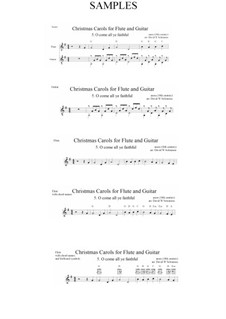 Herbei o ihr Gläubigen: Für Flöte und Gitarre by John Francis Wade