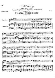 Hoffnung, D.295: Zweite Fassung by Franz Schubert