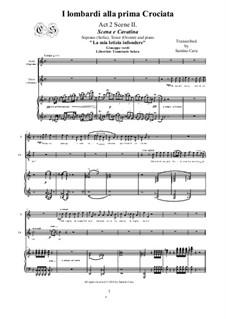 Die Lombarden auf dem ersten Kreuzzug: La mia letizia infondere, for soprano, tenor and piano, CSGV13 by Giuseppe Verdi