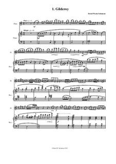 Complete set: Für Flöte und Piano by folklore, David W Solomons