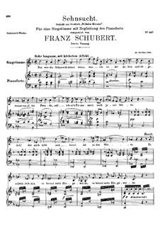 Sehnsucht, D.310: Zweite Fassung by Franz Schubert