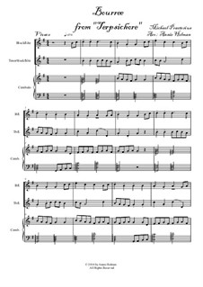 Terpsichore: Bourree, for two recorders and harpsichord by Michael Praetorius