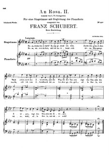 An Rosa, D.316: Erste Fassung by Franz Schubert