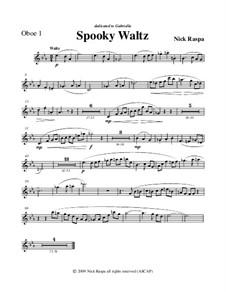 Drei Tänze für Halloween: Oboe 1 (Eng. Hrn) part by Nick Raspa