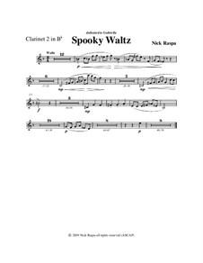 Drei Tänze für Halloween: Clarinet 2 in B Flat part by Nick Raspa