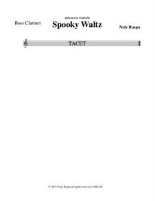 Drei Tänze für Halloween: Bass clarinet part by Nick Raspa