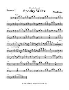 Drei Tänze für Halloween: Bassoon 2 part by Nick Raspa