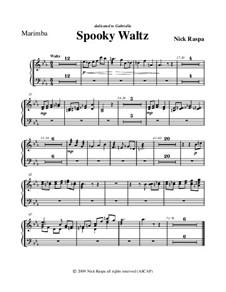 Drei Tänze für Halloween: Marimba part by Nick Raspa