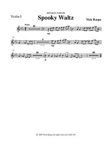 Drei Tänze für Halloween: Violin 1 part by Nick Raspa