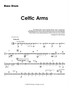 Celtic Arme: Bass Drum part by folklore, Patrick Sarsfield Gilmore, David Braham