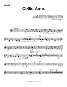 Celtic Arme: Violin 3 part (optional) by folklore, Patrick Sarsfield Gilmore, David Braham