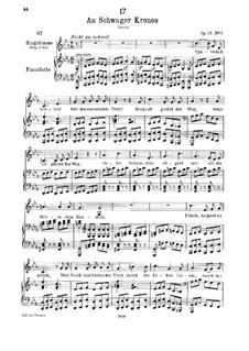 An Schwager Kronos, D.369 Op.19 No.1: Für Stimme und Klavier by Franz Schubert