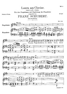 Laura am Klavier, D.388: Erste Fassung by Franz Schubert
