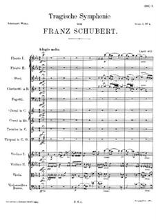 Sinfonie Nr.4 in c-Moll 'Tragische', D.417: Teil I by Franz Schubert