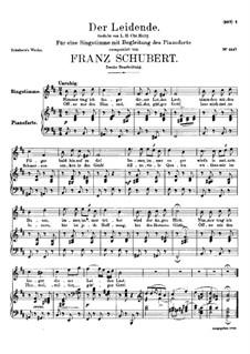Der Leidende, D.432: Zweite Fassung by Franz Schubert