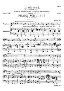 Liedesend, D.473: Zweite Fassung by Franz Schubert