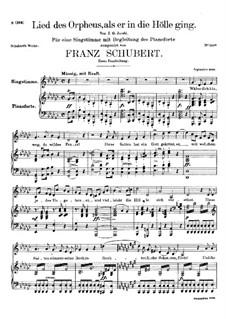 Lied des Orpheus, D.474: Erste Fassung by Franz Schubert