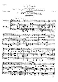 Lied des Orpheus, D.474: Zweite Fassung by Franz Schubert
