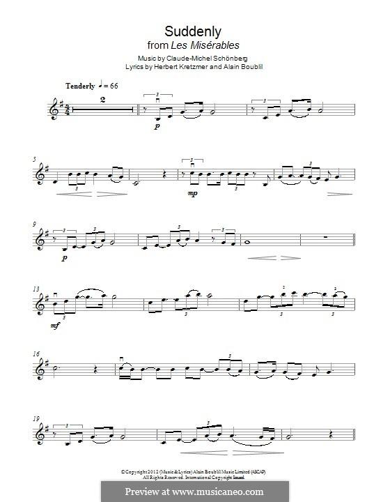 Suddenly: Für Violine by Claude-Michel Schönberg