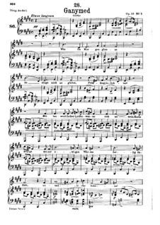 Ganymed, D.544 Op.19 No.3: Für tiefe Stimme und Klavier by Franz Schubert