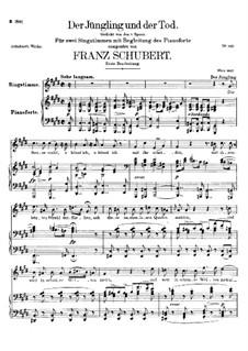 Der Jüngling und der Tod, D.545: Erste Fassung by Franz Schubert